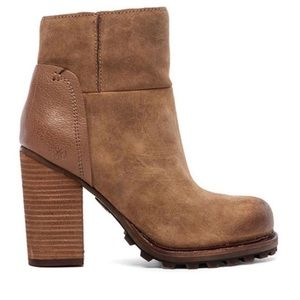 Tan Suede Booties Sam Edelman Franklin Whiskey Lea